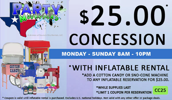 Cotton Candy or Sno-Cone Rental for $25.00 in Houston