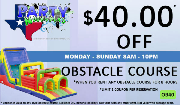 Save $40 off any Inflatable Obstacle Course rental in Houston